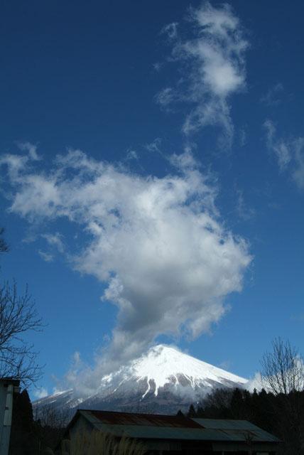 雲と富士山-4