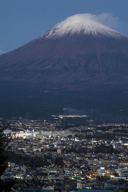 夕暮れの富士山-1