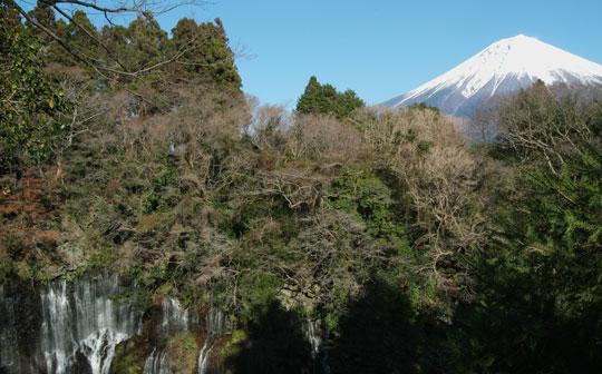 白糸の滝と富士山 18.12.27